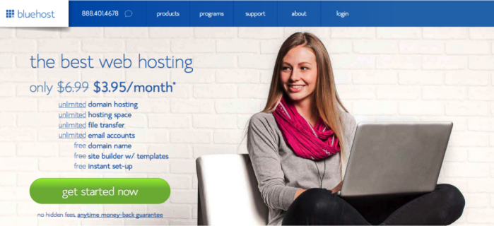 Set up your hosting account with Bluehost!