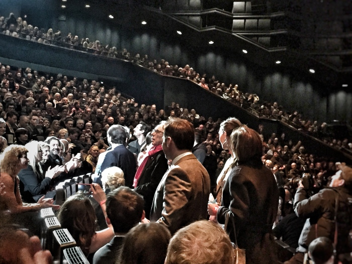 Look at the packed crowd for the World Premier of Es war einmal in Deutschland - Bye Bye Germany. Aim to arrive early!