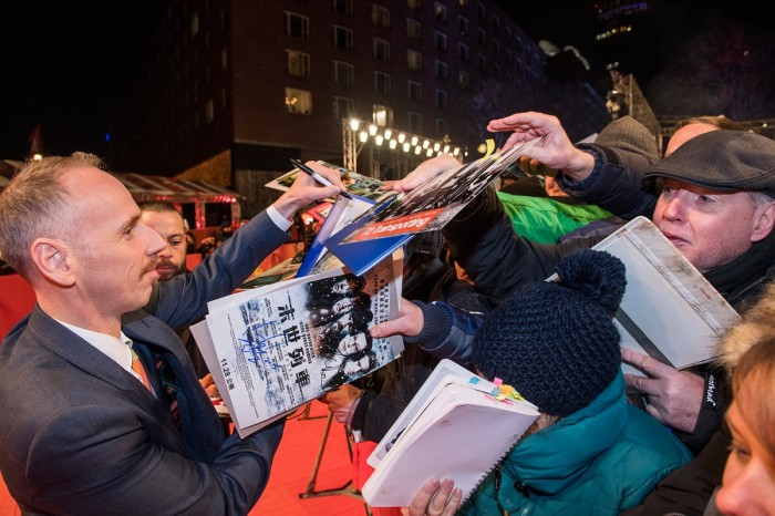 Practically every member of the T2 Trainspotting cast got mobbed at the Berlinale. Even Ewen Bremner - Spud! ©Berlinale