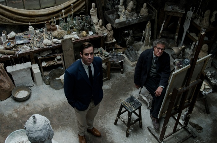 Final Portrait by Stanley Tucci - Armie Hammer & Geoffrey Rush ©Parisa Taghizadeh