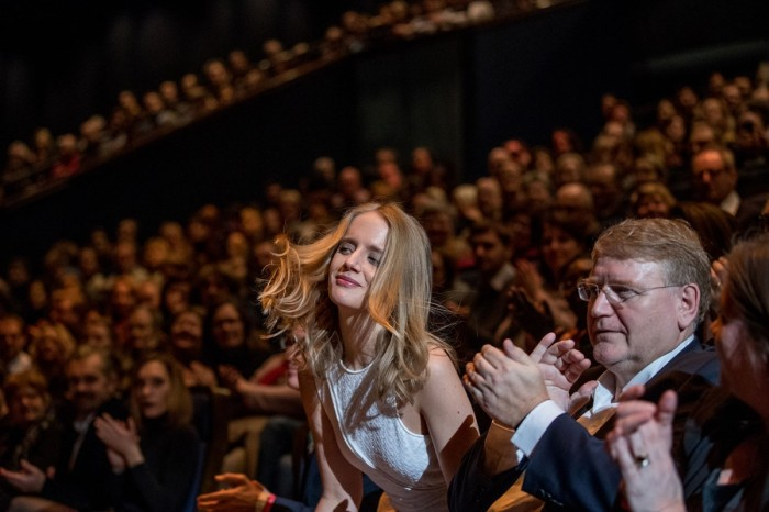 Jeanne Werner. And if you look closely, I'm sitting on the right, on the row behind her! You can just about see my hands! Es war einmal in Deutschland - Bye Bye Germany. ©Berlinale