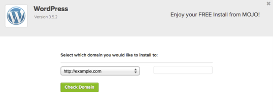 Select which domain you would like to install to
