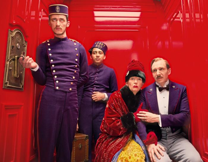 The Grand Budapest Hotel Grand Budapest Hotel - Paul Schlase, Tony Revolori, Tilda Swinton & Ralph Fiennes ©TCFHE