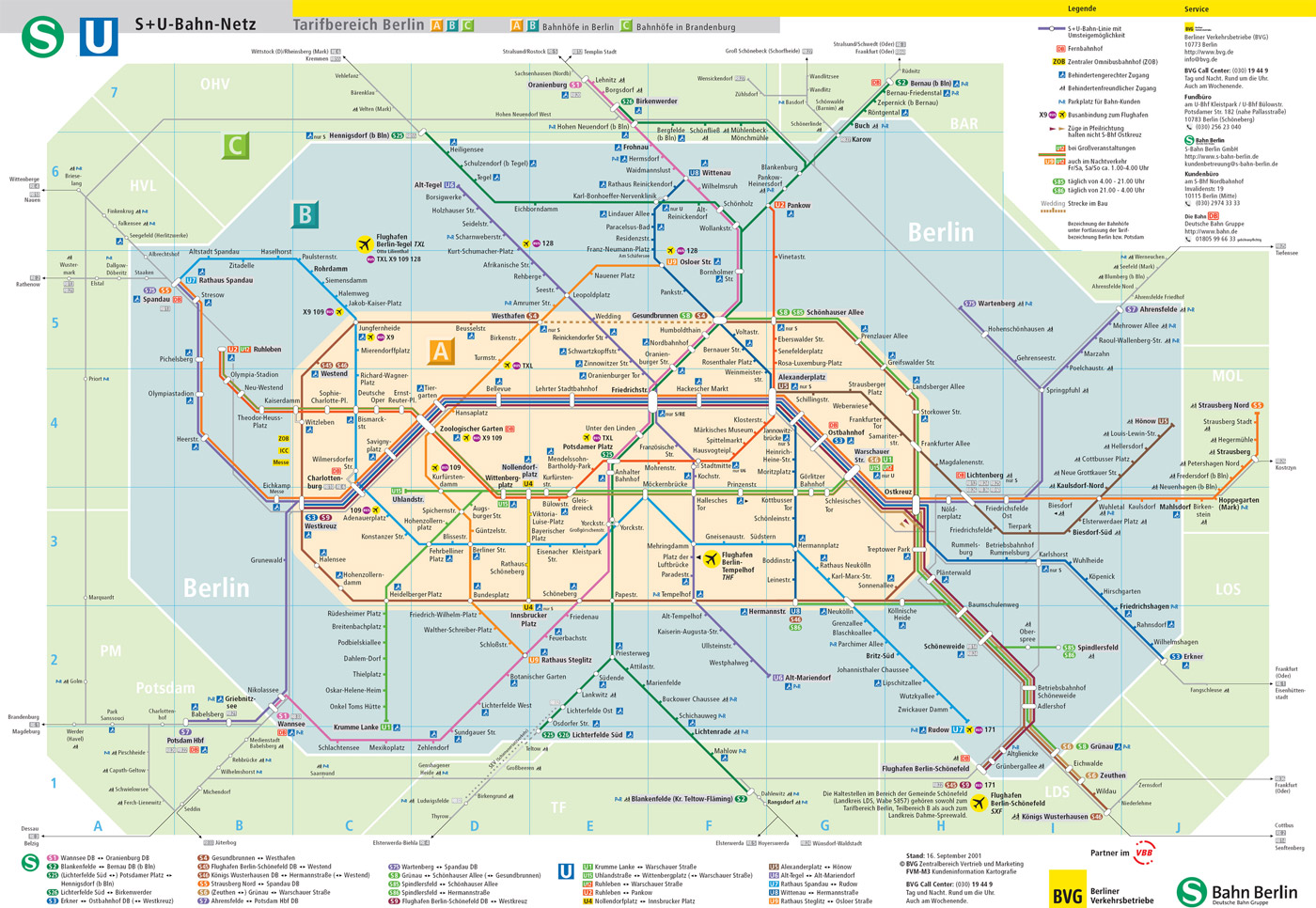 A map of the Berlin Public Transport Network BVG The British