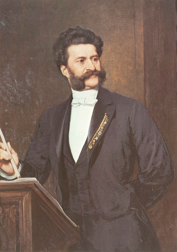 Johann Strauss II ©August Eisenmenger, 1888 - composer of light music, dance music & operettas - also known as The Waltz King!