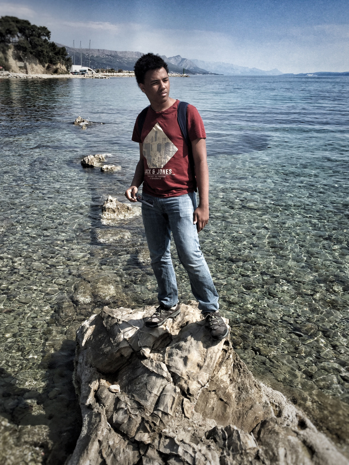 The Tall Young Gentleman at the sea in Split - Croatia!