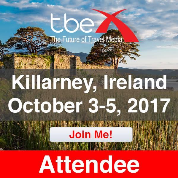 TBEX Attendee Badge - Kilarney, Ireland - 2017