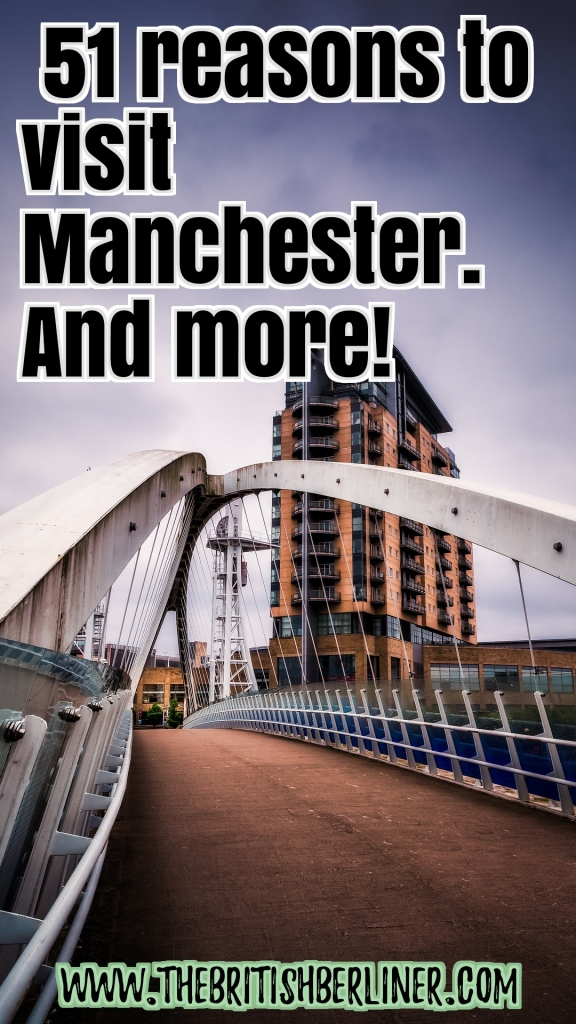 51 reasons to visit Manchester. And more; 51 reasons to visit Manchester; 51 reasons; Visit Manchester; Manchester; England; UK; Great Britain; Britain; travel; family travel; Europe; solo travel; travel; family travel; European travel; Europe; how to travel in Europe; how to travel in Manchester; things to do in Manchester; things to do; Northern England; Manchester UK; Manchester England; Manchester United; Manchester City, the city of Manchester; Manchester guide; Manchester travel guide;