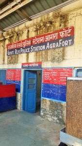 Agra Fort train station in Agra, India; ; railway; Indian train; trains in India; Indian railway; government railway police station Agra Fort; Govt. Rly Police Station Agra Fort, Police Station Agra Fort; police station; Indian police station; train; train station; Agra; India