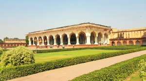 The Diwan-i-Aam, or Hall of Audience in Agra, India