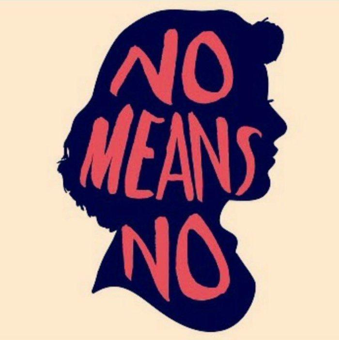 No Means No; Political image; No consent; No photographs; No videos; No touching; No permission;
