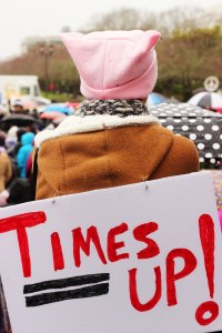 Political image; Times Up; No photographs; No videos; No permission; No means No