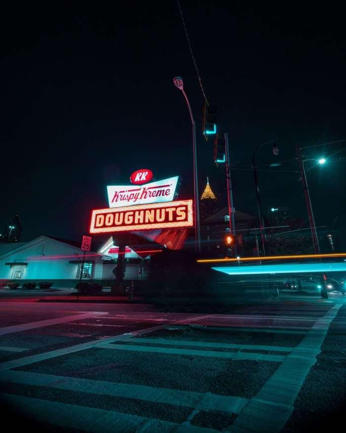 Georgia; Atlanta; American State; State in America; America; American; USA; the States; Krispy Kreme; KrisoyKreme; donuts; doughnuts; American snack; snack; American restaurant; fast food; fast food restaurant; American fast food; fast; food